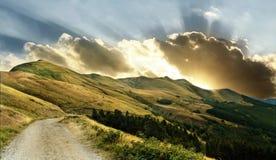 Sonnenaufgang über appennino, Italien Lizenzfreies Stockfoto