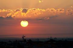Sonnenaufgang über Berlin Lizenzfreie Stockbilder