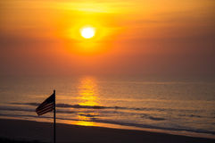 Sonnenaufgang über dem Atlanitc Lizenzfreie Stockbilder