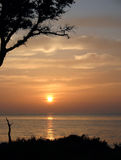 Sonnenaufgang über dem Atlantik stockbild