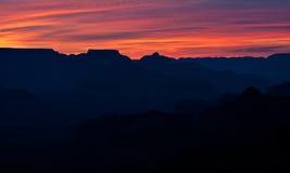 Sonnenaufgang über dem Grand Canyon Lizenzfreie Stockfotos
