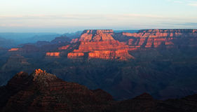 Sonnenaufgang über dem Grand Canyon, Amerika Stockbilder