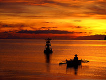 Sonnenaufgang über dem Horizont, Philippinen Lizenzfreie Stockbilder