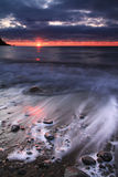 Sonnenaufgang über dem Ozean Lizenzfreies Stockfoto