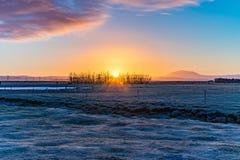 Sonnenaufgang über den Ebenen Lizenzfreies Stockbild