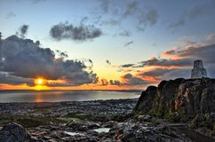 Sonnenaufgang über Edinburgh Lizenzfreies Stockbild
