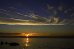 Sonnenaufgang über Fluss Humber Großbritannien Stockfotos