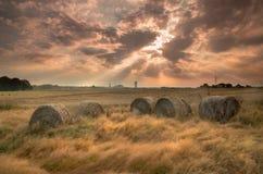 Sonnenaufgang über Kohlengrube Stockfotografie