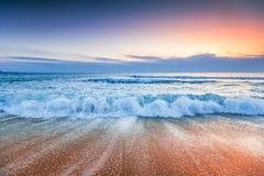 Sonnenaufgang über Meer Lizenzfreies Stockbild
