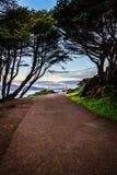 Sonnenaufgang über San Francisco Bay Area stockbilder