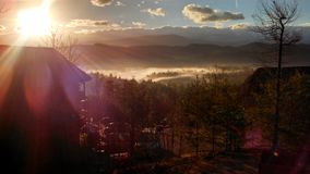 Sonnenaufgang über Skokies Lizenzfreie Stockfotografie