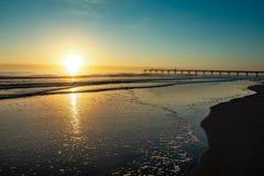 Sonnenaufgang über Strand in Jacksonville lizenzfreies stockfoto