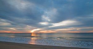 Sonnenaufgang über Strand in San Jose Del Cabo in Baja California Mexiko Lizenzfreie Stockfotos