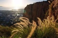 Sonnenaufgang über Townsville-Stadt Stockfotografie