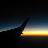 Sonnenaufgang über Wolken Stockbild