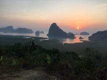 Sonnenaufgang Übersee Lizenzfreies Stockbild