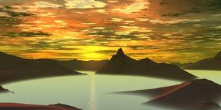 Sonnenaufgang vektor abbildung