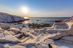 Sonnenaufgang in Aliki Thassos Insel, Griechenland Lizenzfreie Stockfotografie