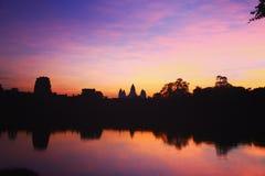 Sonnenaufgang Angkor Wat Stockbilder