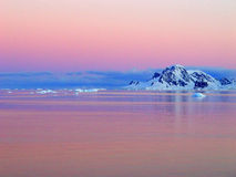 Sonnenaufgang, Antarktik Lizenzfreies Stockbild