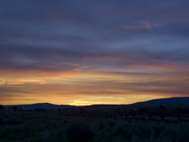 Sonnenaufgang, Antilopen-Ebenen, großartiges Teton NP lizenzfreie stockfotos