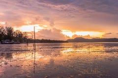 Sonnenaufgang an AO Chalong Stockbilder