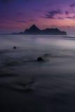 Sonnenaufgang an AO Manao Stockbild