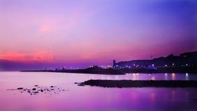 Sonnenaufgang in Atakum Samsun die Türkei lizenzfreies stockfoto