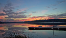 Sonnenaufgang auf Atwood See Ohio Lizenzfreies Stockbild
