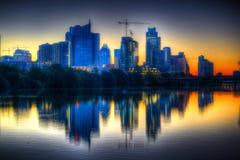 Sonnenaufgang auf Austin Texas lizenzfreies stockfoto