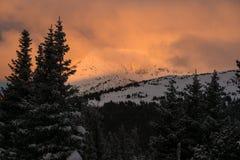 Sonnenaufgang auf Berthoud-Durchlauf - Colorado stockbilder