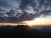 Sonnenaufgang auf civetta lizenzfreie stockfotos