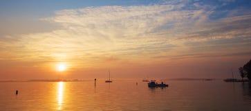 Sonnenaufgang auf dem Chesapeake-Schacht Lizenzfreie Stockfotos