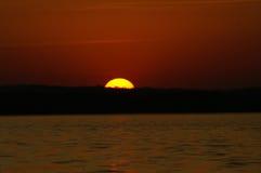 Sonnenaufgang auf dem mächtigen Mississippi Stockfotos