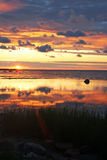 Sonnenaufgang auf dem Meer Stockfoto