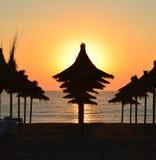 Sonnenaufgang auf dem Schwarzen Meer Stockbilder