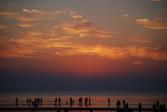 Sonnenaufgang auf dem Strand 2 Lizenzfreie Stockfotografie