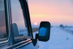 Sonnenaufgang auf dem Weg stockfotos