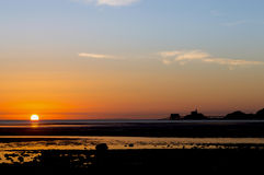 Sonnenaufgang auf den Mumbles stockfotografie