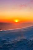 Sonnenaufgang auf Deogyusan-Bergen bedeckt mit Schnee im Winter Lizenzfreie Stockfotografie