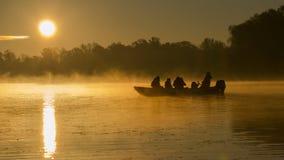 Sonnenaufgang auf der Donau Stockfoto