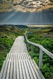 Sonnenaufgang auf der Insel von Sylt lizenzfreie stockfotografie