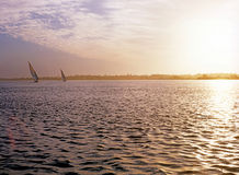 Sonnenaufgang auf Fluss Nil Lizenzfreies Stockfoto