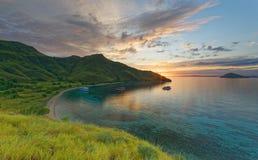Sonnenaufgang auf Gili Laba /Lawa stockbilder