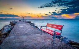 Sonnenaufgang auf Kos-Insel lizenzfreie stockfotos
