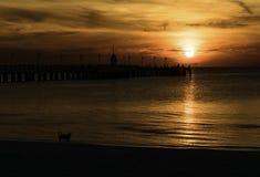 Sonnenaufgang auf Meer Stockfotos