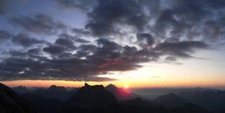 Sonnenaufgang auf Mt Civetta stockfotografie