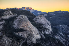 Sonnenaufgang auf Nordhaube Stockfotos
