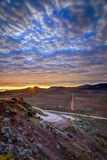 Sonnenaufgang auf Plaine DESSables Stockfotografie