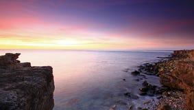 Sonnenaufgang auf Portland in Dorset stockfoto